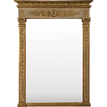 Antique French Louis XVI Directoire Period Mirror circa 1795