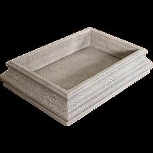 Custom Made Shagreen Box of Unusual Shape