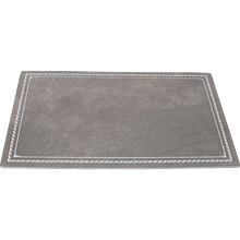 Custom Grey Leather Desk Pad Blotter Hungary circa 2015