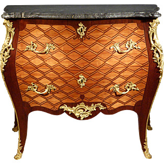 A Dutch Louis XV Marquetry Commode Attributed to Matthijs Horrix