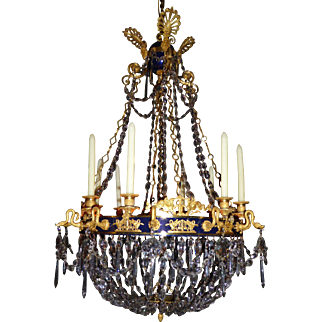 Crystal and Gilt-Bronze Chandelier