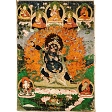 A thangka of Haygriva, Tibet, Circa 18th century, Buddhist
