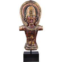 A wood image of Indra, Nepal, 13th century