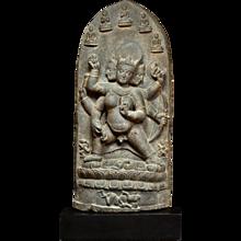 A stone sculpture of Parnashavari, circa 10th/ 11th century, Pala Dynasty