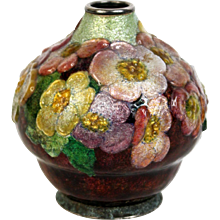 Enameled vase by Camille Faure