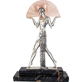Bronze Fan Dancer By Guerbe