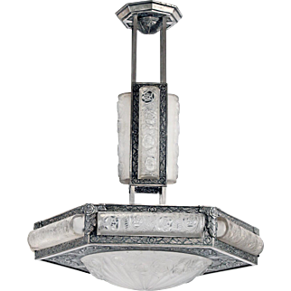 Art Deco Chandelier by Degue