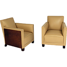 Art Deco Club Chairs by Michel Dufet