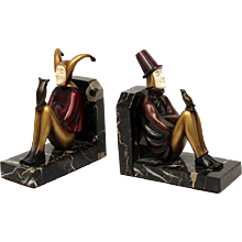Art Deco Bronze Bookends by Rolan Paris