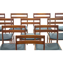 Set of Ten Danish Dining Room Chairs by Hansen Rosengreen
