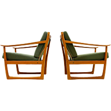 Pair of Lounge Chairs by Peter Hvidt & Mølgaard, FD 130, Denmark, 1961
