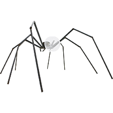 Brutalist Spider Floor or Table Lamp, circa 1970s