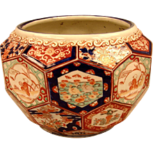 Japanese Imari Planter With Faceted Design