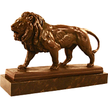 French Model of a Lion After Barye