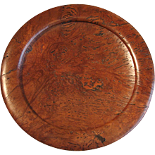 Gum Tree Carved Wood Charger by Jack Williams