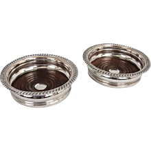 English Silver-Plated Wine Coasters