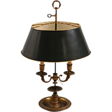 French Gilt-Brass Bouillotte Lamp