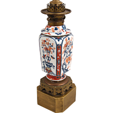 Chinese Imari Table Lamp With Gilt Base