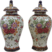 French Porcelain Vased in the Chinese Taste