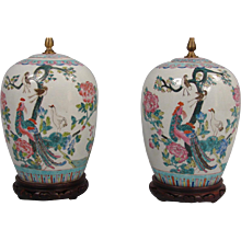 Chinese Porcelain Vases Now as Lamps