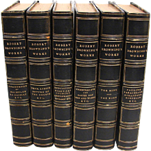 Works of Browning in 6 Volumes, Blue Morocco