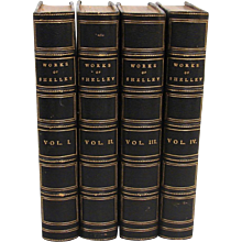 Shelley's Complete Works 4 Volumes Blue Morocco