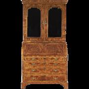 George II Walnut Bureau Cabinet