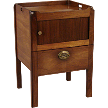 George III Mahogany Bedside Table With Tambour