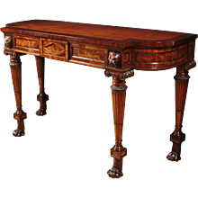 Regency Mahogany Inlaid Serving Table