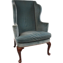 English George II Walnut Wind Arm Chair
