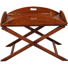 George III Mahogany Butler's Tray on Stand