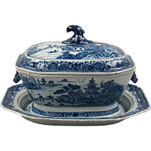 Canton Soup Tureen and Underplate