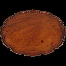 George III Mahogany Tray with Pie Crust Edge