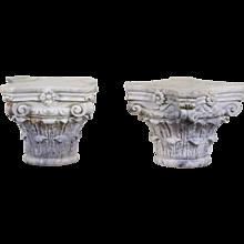 Italian Carrara Marble Corinthinian Capitals