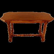 Italian Walnut Baroque Style Side Table