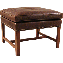 Georgian English Mahogany Bench