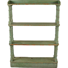 Victorian Painted Open Bookcase or Etagere