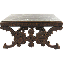 19th Century Continental Table With Marble Top
