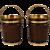 Irish Style Mahogany Peat Buckets