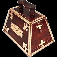 Mahogany Turkish Art Nouveau Period Shoe Shine Box