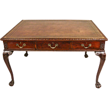 Georgian Style Partners Writing Table with 6 Drawers