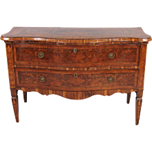 Italian Neoclassical Inlaid Serpentine Chest