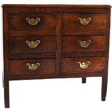 English Elm 6 Drawer Chest