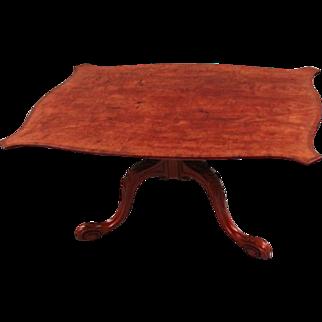 George III Inlaid Mahogany Serpentine Low Table