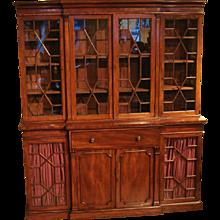 Regency Breakfront Bookcase with Secretaire
