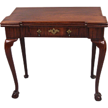 George II Mahogany Flip-Top Games Table
