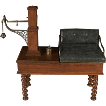 Victorian English Oak Jockey Scale by Pooley