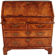 George II Walnut Slant Front Desk