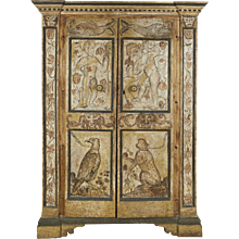Italian Baroque Painted Armoire
