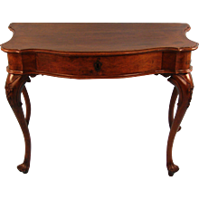 18th Century Italian Baroque Walnut Table